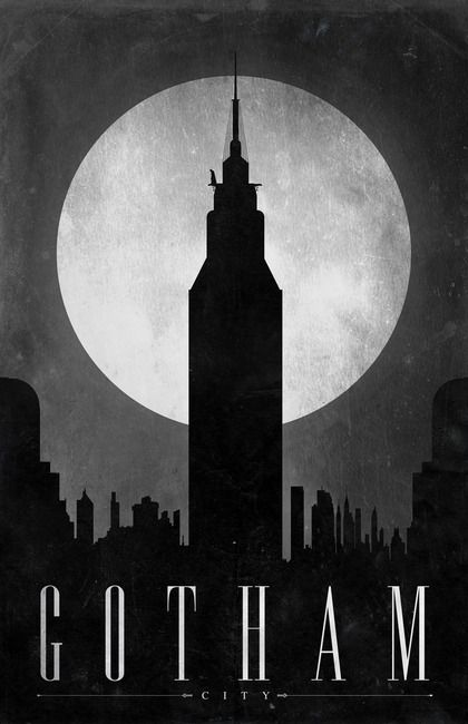 Gotham City Poster by Justin Van Genderen, Chicago