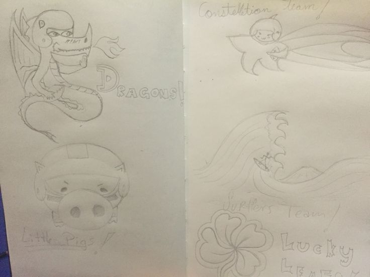 Doodles logos de equipos.
