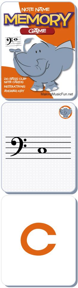 Memory (Concentration) Game | Free Bess Clef Note Names Game #MusicTheory - http://makingmusicfun.net/htm/f_printit_lesson_resources/concentration-bc.htm