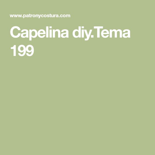 Capelina diy.Tema 199