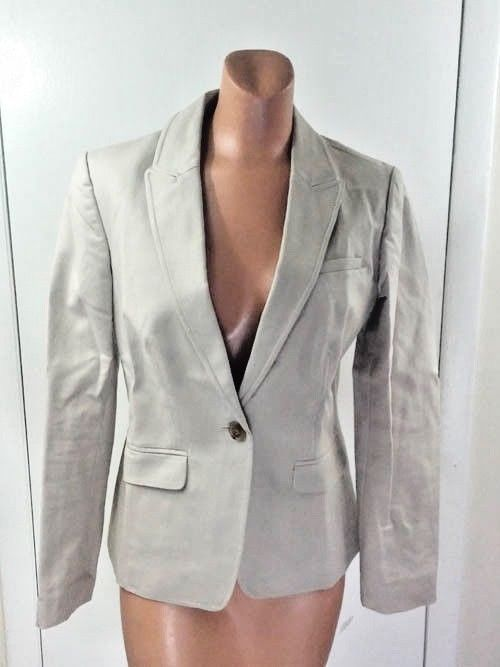 Long and Lean-Fit Lightweight Banana Republic Brown Women's Cotton Blazer 6 #BananaRepublic #Blazer