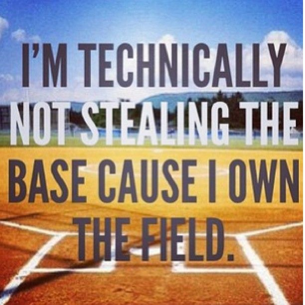 My child mentality...when she pitches, she protects homeplate...that is her's, you want to cross it, you better earn the right.