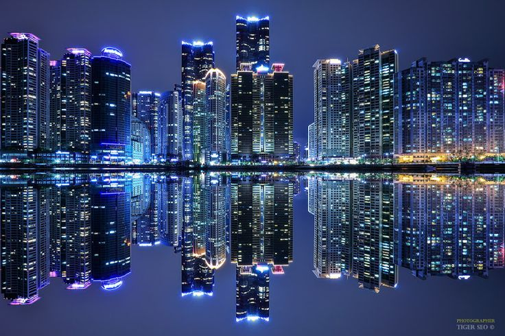 Reflections... Haeundae District, Busan, Korea Photographer: Tiger Seo