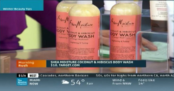 #SheaMoisture Cocunut & Hibiscus Body Wash on Wake Up with #AlRoker #TheWeatherChannel