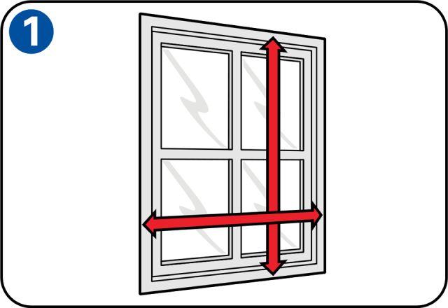 Fabriquer une moustiquaire pour porte/fenêtre - Prise des mesures