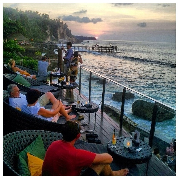 """Discovered By Fen, """"One of the unreal bars I've ever been and the best so far! Located inside Ayana in Bali, this has been one of the most popular bars ever :) Well, look at the view, or even better, pay a visit to the place."""" at Ayana Resort & Spa Bali, Tuban, Indonesia"""