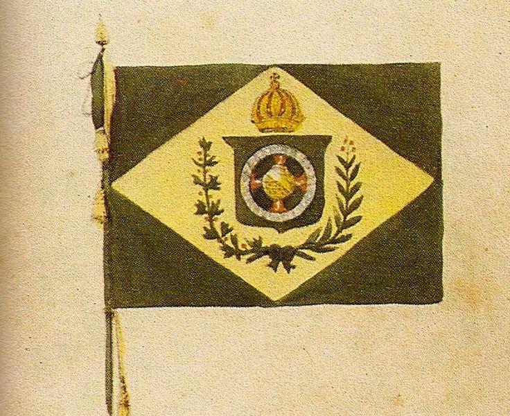 Bandeira do Império do Brasil, por Debret.