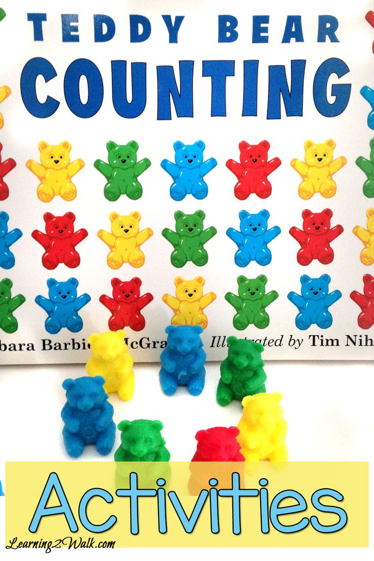 Teddy Bear Preschool Theme Counting Book Activities