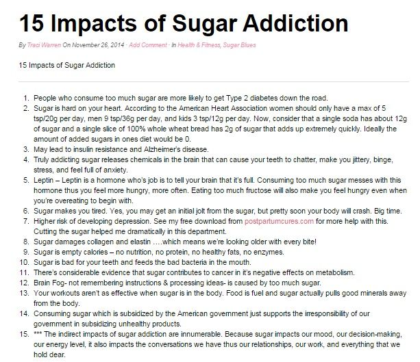 Natural Sugar Addiction Cures
