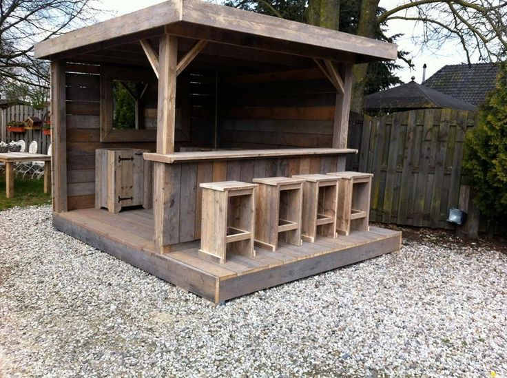 3578 best pallets crates images on pinterest pallet for Wood outdoor bar ideas