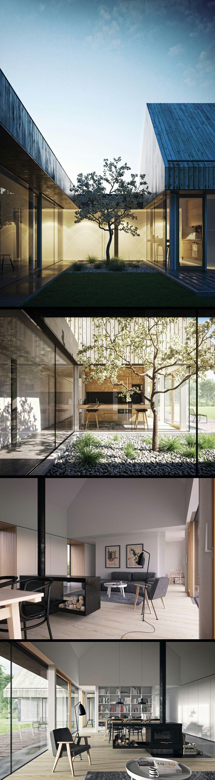 Barn House by Maciej Mackiewicz 1120px X 4067px #Villa