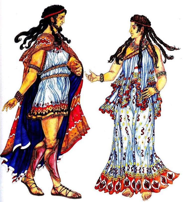 древнегреческий мужской и женский костюм