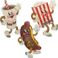 Image detail for -... and Classic Videos: Drive-In Theater Vintage Style Snack Metal Signs