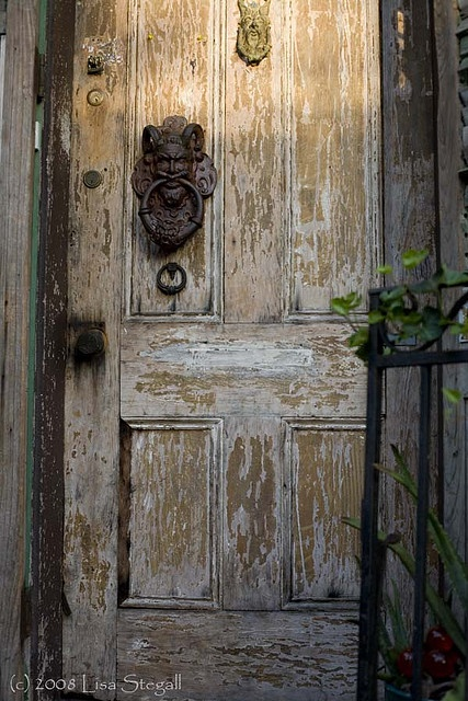 I'm a sucker for an old distressed door by L Stegall, via Flickr