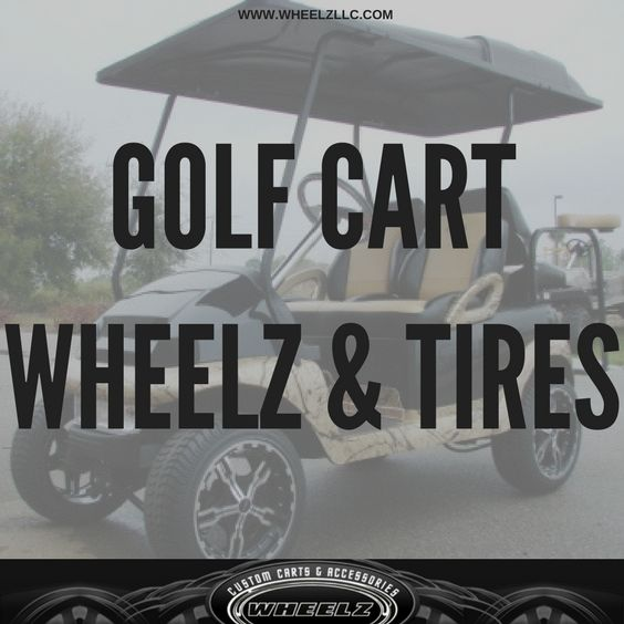 Add custom golf cart wheels and tires to your EZGO, Club Car, or Yamaha golf cart for improved ride performance. #customgolfcart #PerformanceTiresforCars