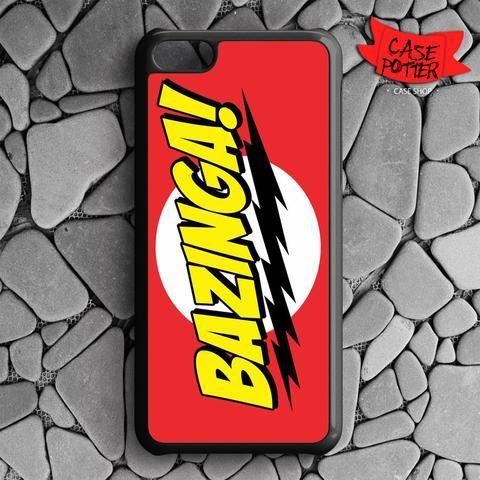 Red Yellow Bazinga iPhone 5C Black Case