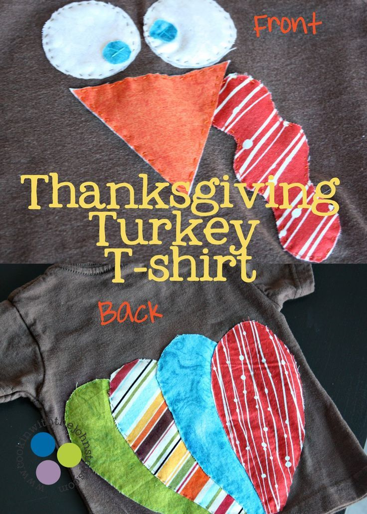 What's Cookin' with the Johnstons: Pinterest Challenge: Turkey T-shirt for a Toddler! Good.