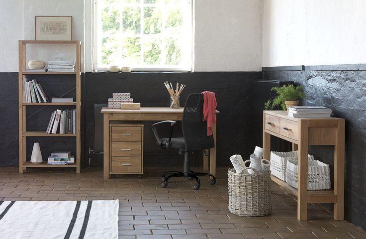 Bureaustoel DALMOSE lage rug zwart | JYSK