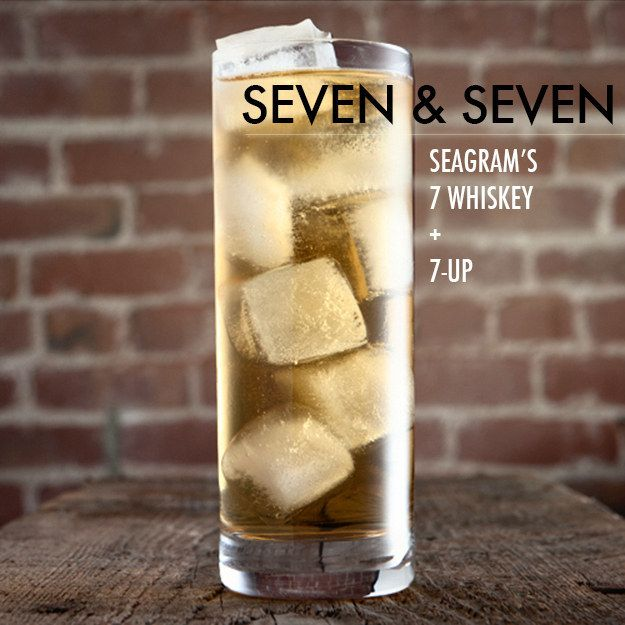 Seven & Seven | 19 Lazy Whiskey Drinks That Are Bae