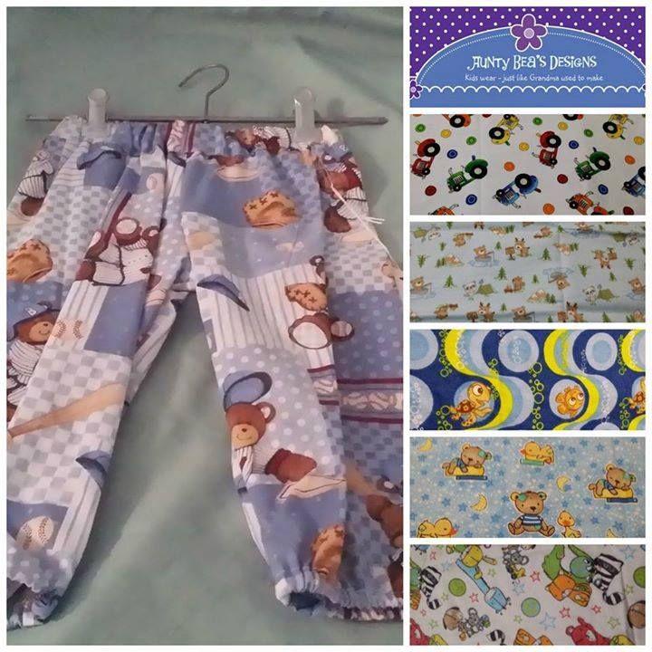 Handmade by Aunty Bea's Designs Harem Pants/ Winter Pajama pants