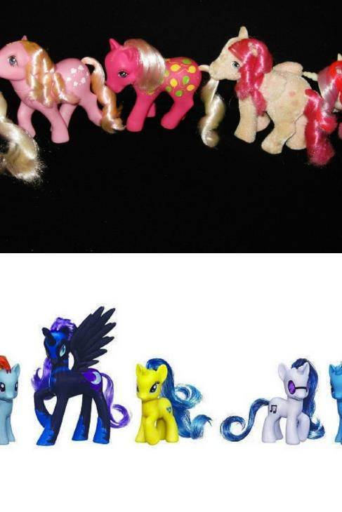 7 80s Characters From My Childhood Then And Now – What Happened?  4. My Little Pony Gets 'Plastic' Surgery #kids #toys