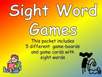 This packet contains games to give students important opportunties to practice 3rd grade sight words, while celebrating the beginning of a new school year!!    It includes 5 different game-boards for students to use. There are game cards with sight words based on third grade Dolch Words.     This set is ready to print, cut apart, and use tomorrow!!    Celebrate the beginning of a new school year in your classroom, while practicing important sight words!  $