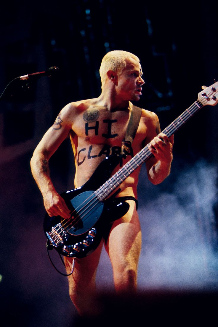 Attractively girl. Bass player naked