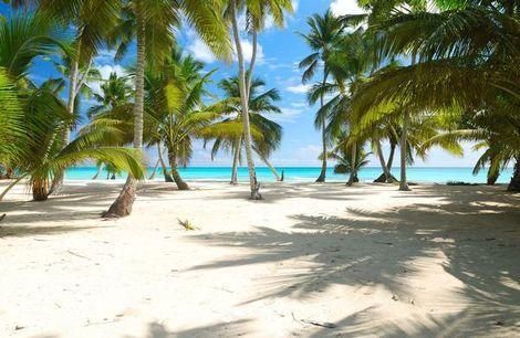 De Dominicaanse Republiek met zijn tropische stranden .