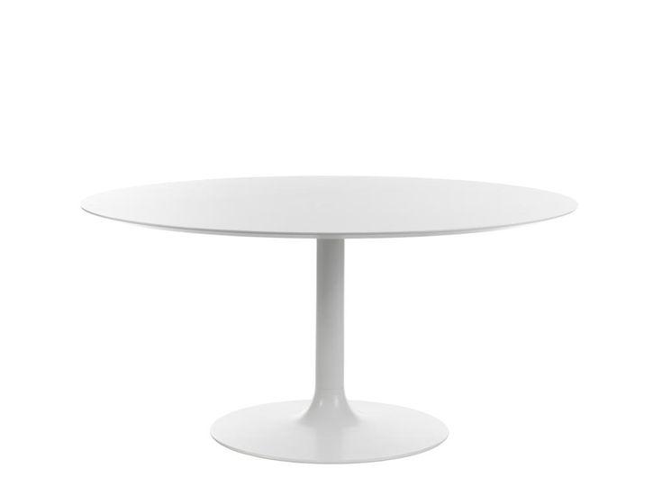 Bordsskivan Discus och bordsfoten Venus från Johanson Design är en vacker kombination. Vi har valt att visa fem storlekar - 100, 110, 120, 130 och 150 cm. Men bordet går fint att beställa i storlekar mellan 50-150 cm. Bordsskivan med topp i laminat och fasad kant i MDF är 25 mm hög.Välj till att få kanten lackerad i svart eller vit.