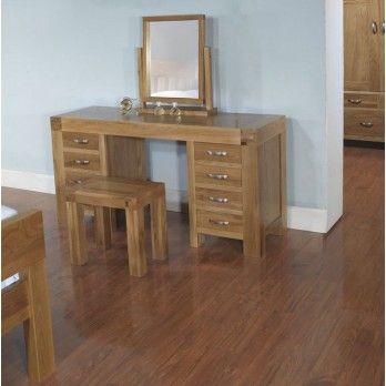 Santana Blonde Oak Desk/Dressing Table