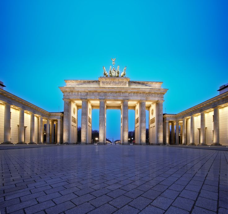 Brandenburg Gate (Germany). 'Prussian emperors, Napoleon and  Hitler have marched through this  neoclassical royal city gate that was once trapped east of the Berlin Wall. Since 1989, it has gone from a symbol of division and oppression to the symbol of a united Germany. The powerful landmark, which overlooks the stately Pariser Platz square with its embassies and banks, is at its most atmospheric at night.' http://www.lonelyplanet.com/germany/berlin/sights/gate/brandenburger-tor