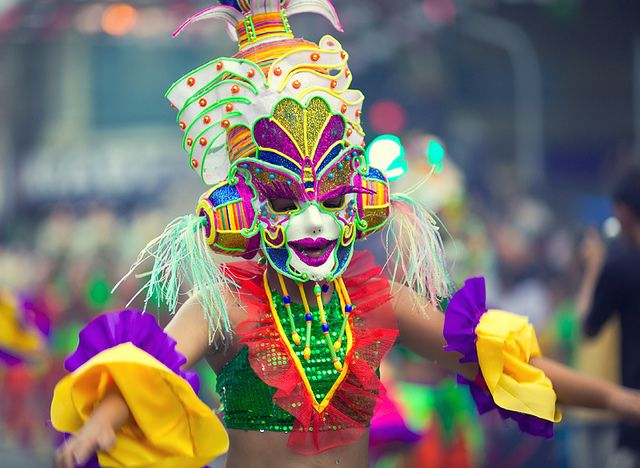 this is a colourful mask that is got bright colour on it and detail