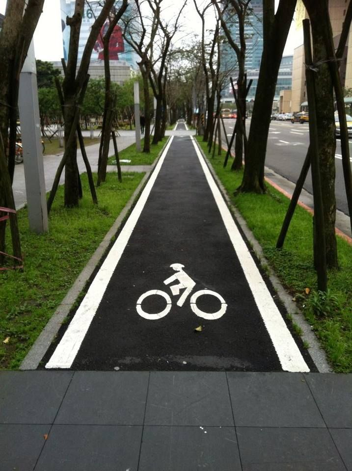 A serious bike lane - Beautiful and so neat, it would be fun to ride here.