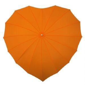 In a dif color- Orange Heart Shaped Umbrella - Wedding Umbrellas UK | Bridal Hotspot