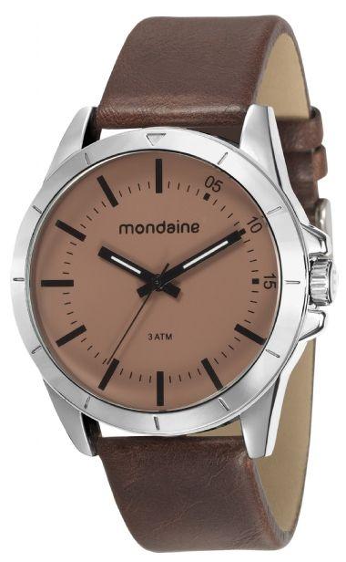 38c2a5cb1 76701G0MVNH2 Relógio Masculino Mondaine Pulseira de Couro Analógico ...