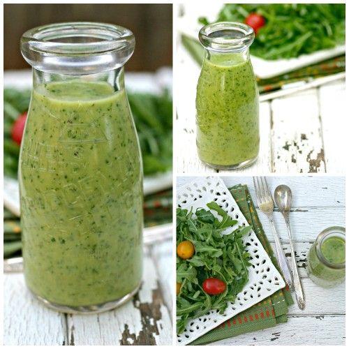 Creamy Avocado Salad Dressing - NO cream or oil.  SO GOOD! Has become our favorite all time dressing!