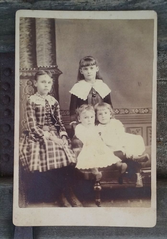 Antique CABINET CARD LOT 3 pc CHILDREN Fancy Dress NEW HAMPSHIRE Victorian Photo