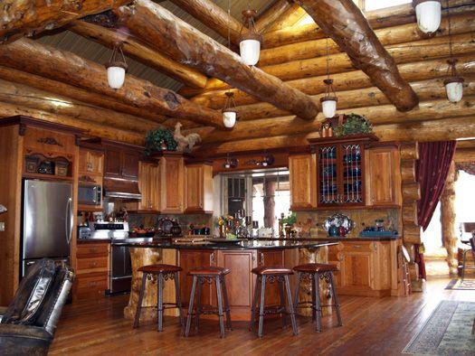 Images Of Log Home Kitchens