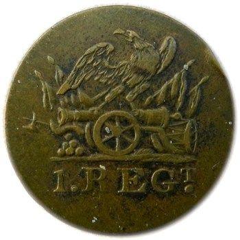 U.S. 1st Regiment of Artillery, c.1802-1808, 20.67mm, (brass)