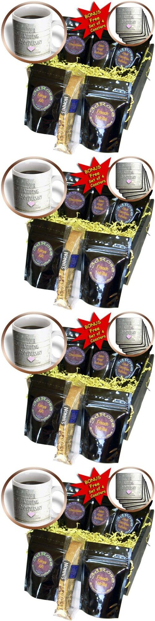 InspirationzStore Occasions - 10th Wedding Anniversary gift - Tin celebrating 10 years together - tenth anniversaries ten yrs - Coffee Gift Baskets - Coffee Gift Basket (cgb_154441_1)