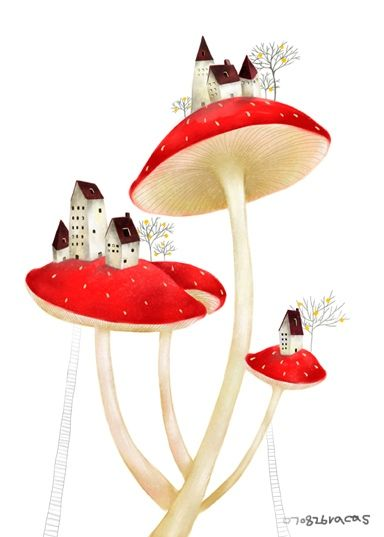 .Mushrooms Trees, Tiny House, Mushrooms Drawing, Little House, Toadstool Mushrooms, Mushrooms Illustration, Mushrooms Village, Mushrooms House, Mushrooms Cities