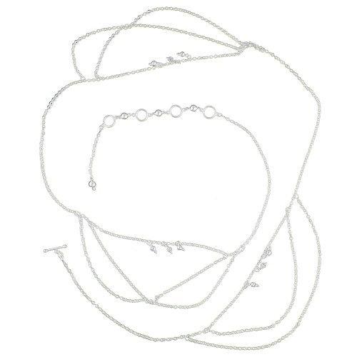 Bijoux Ceinture Ventre chaîne en argent sterling Bijoux Indien de l'Inde (réglable) de 96,52 à 106,68 CM de ShalinIndia, http://www.amazon.fr/gp/product/B007XAGVYE/ref=cm_sw_r_pi_alp_KBlfrb1EATSPQ