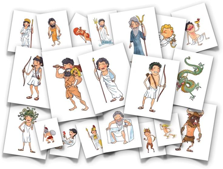 Mythology flash cards