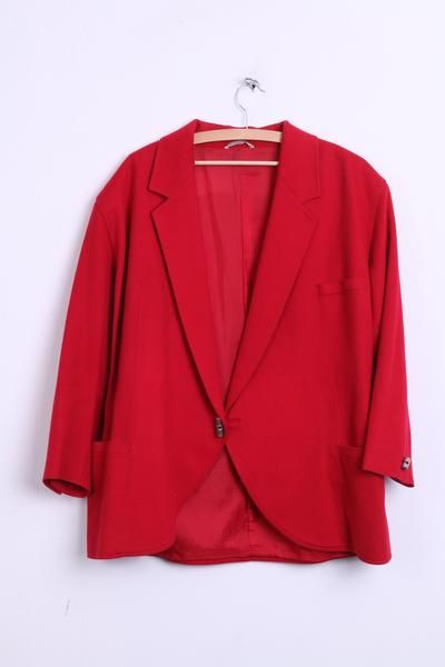 Gianni Versace Womens 46 3XL Blazer Jacket Red Elegant Italy 80s / 90s - RetrospectClothes