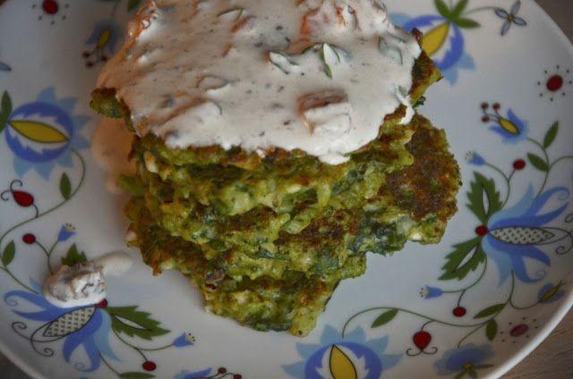 placki szpinakowo-brokułowe / fritters with spinach and broccoli www.dziarskapara.pl