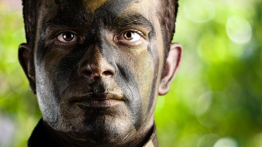 New camo face paint protects soldiers against bomb blasts
