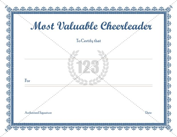 cheerleading certificate templates free - most valuable cheerleader templates free download