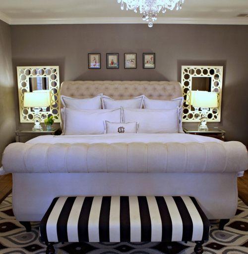 Bedroom Ideas Gray Sleigh Bed Bedroom Ideas Small Bedroom Wall Art Bedroom Bench Stool: 50 Best BECKYS BOUDOIR. ...b♡ Images On Pinterest