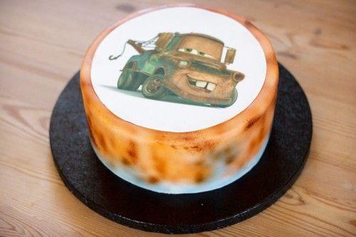 Dumle Bumle kage med sukkerprint / Tow-Mater cake