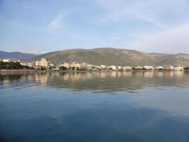 Seaside village of Itea, Greece. We were able to take a bus tour to the Ruins of Delphi from here